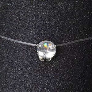 Jewelry - Floating Crystal Dot necklace